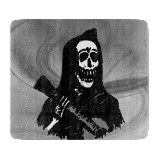 Smokey Guitar Skeleton Serenade Cutting Board