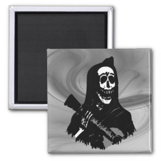 Smokey Guitar Skeleton Serenade Magnet
