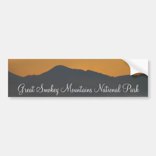 Smokey Mountain Sunrise Bumper Sticker