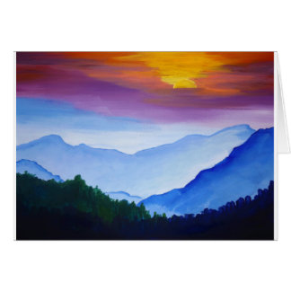 Smokey Mountain Sunset Card