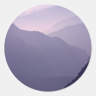 Smokey Mountains Haze Round Sticker