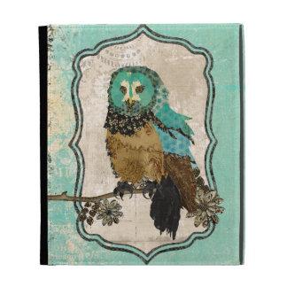 Smokey Rose Owl Vintage Blue Caseable Case iPad Folio Covers