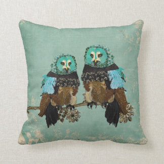 Smokey Rose Owls  MoJo Pillow Cushion