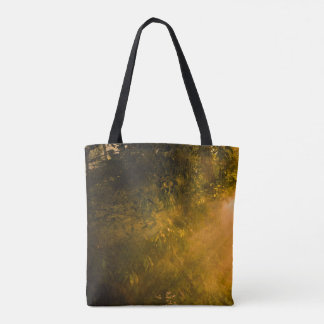 Smokey Sunset in Woods Tote Bag