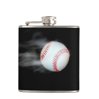 Smokin Baseball Hip Flask