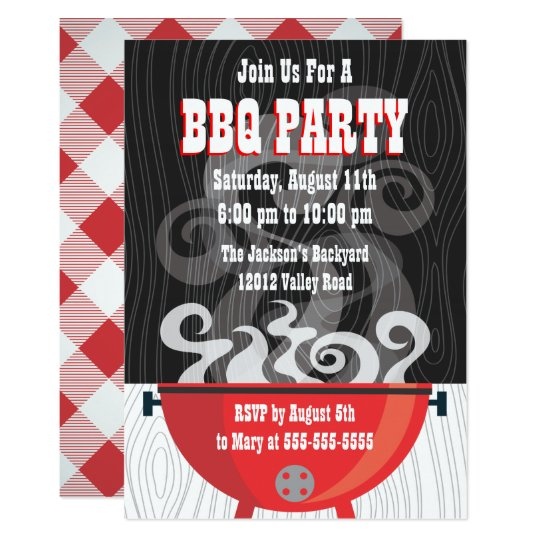 Smokin BBQ Party Invitation