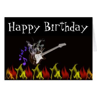 Smokin Hot Rocker Birthday Card