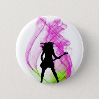 Smokin' Pink 6 Cm Round Badge