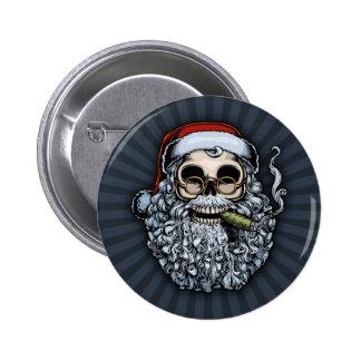 Smokin Santa Skull Buttons