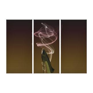 Smokin' Stiletto Art Canvas Print