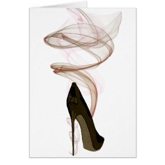 Smokin Stiletto Shoe Art Card
