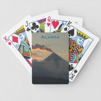 Smoking Alaska Volcano at Sunset Poker Deck