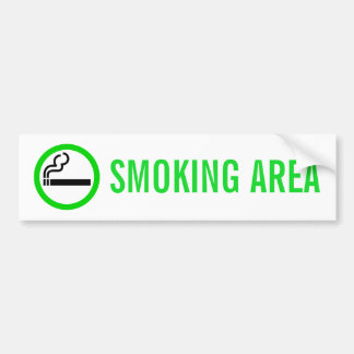 SMOKING AREA BUMPER STICKER