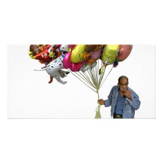 Smoking Balloon Salesman Picture Card