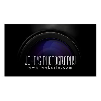 Smoking Camera Lens Photographer Business Card