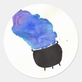 Smoking Cauldron Classic Round Sticker
