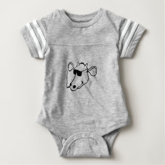 Smoking Cow with Sunglasses Baby Bodysuit