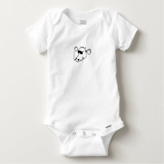 Smoking Cow with Sunglasses Baby Onesie