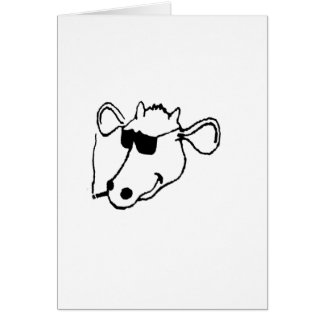 Smoking Cow with Sunglasses Card