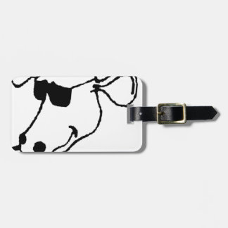 Smoking Cow with Sunglasses Luggage Tag