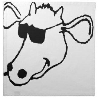 Smoking Cow with Sunglasses Napkin