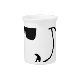 Smoking Cow with Sunglasses Pitcher