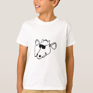 Smoking Cow with Sunglasses T-Shirt