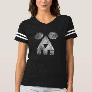 Smoking creepy face women's football t-shirt HQH