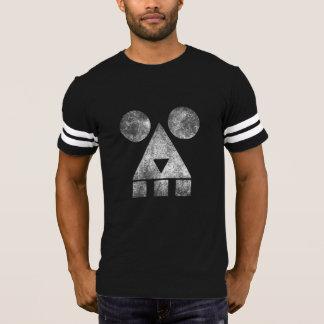 Smoking creepy men's dark football T-shirt HQH