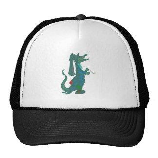 smoking crocodile tuxedo crocodile mesh hat