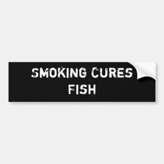 Smoking Cures Fish Bumper Sticker