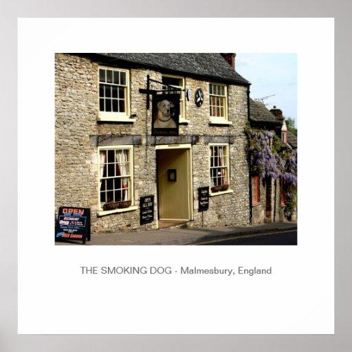 Smoking Dog Pub Malmesbury, England Poster