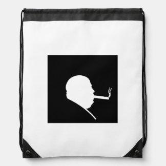 Smoking Gangster Drawstring Backpack