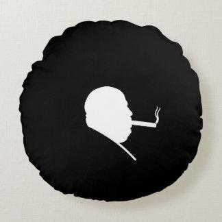 Smoking Gangster Polyester Round Throw Pillow