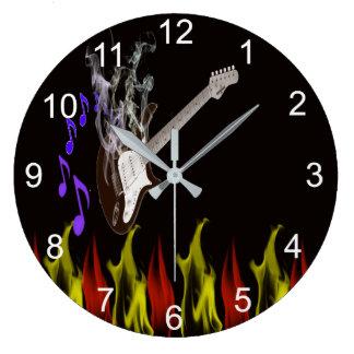 Smoking guitar clock