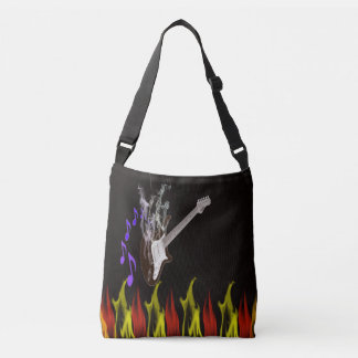 Smoking Guitar Cross Body and tote Bags