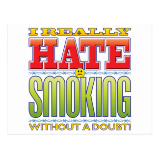 Smoking Hate Face Post Card