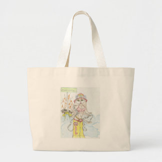 Smoking hot Fire fighting bunny.jpg Tote Bags