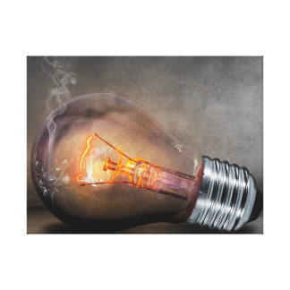 Smoking Light Bulb Canvas Print