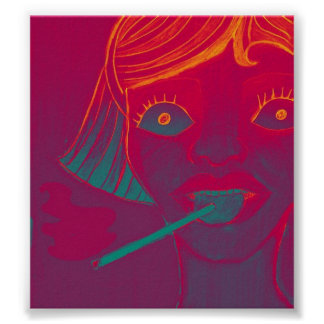 Smoking lollipop poster