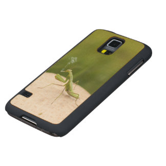 Smoking mantis carved maple galaxy s5 case