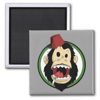 smoking monkey magnet