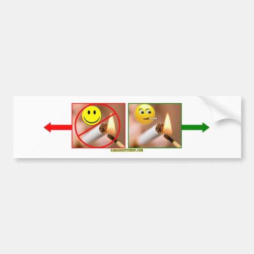 SMOKING/NO SMOKING (Trim as you wish) Bumper Sticker
