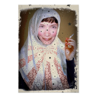 Smoking Nun Canvas Print