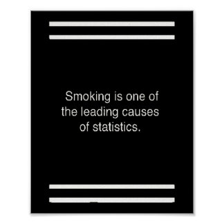 smoking one poster