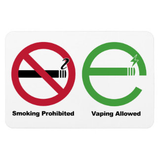 Smoking Prohibited. Vaping Allowed Magnet