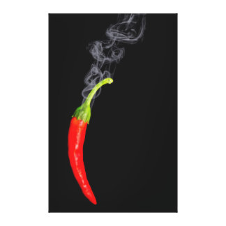 Smoking Red Hot Chili Pepper Canvas Gallery Wrap Canvas