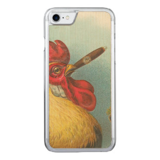 Smoking Rooster Carved iPhone 7 Case