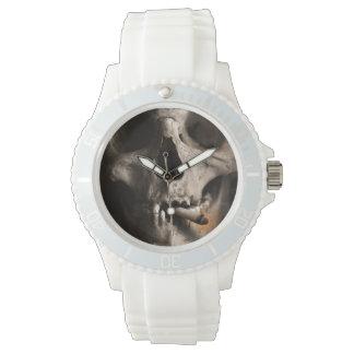 Smoking skeleton watch