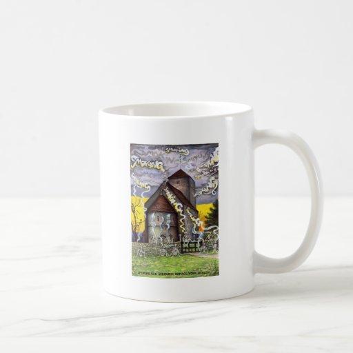 Smoking Skeletons Coffee Mug